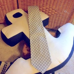 Vtg Givenchy necktie tie VGC mens squares diamonds